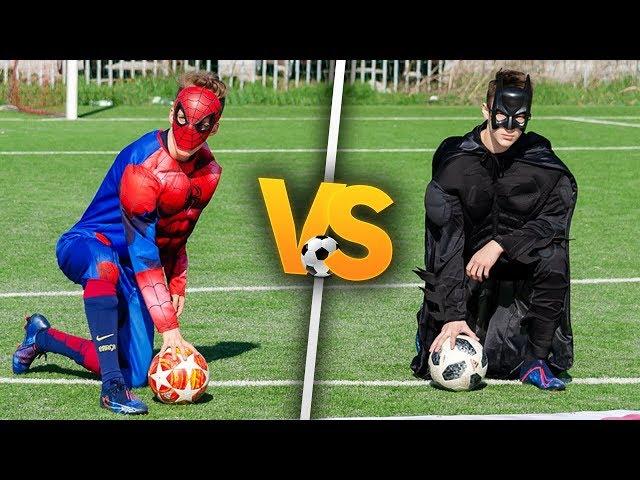 SPIDER-MAN VS BATMAN! | Piłkarski pojedynek! PNTCMZ