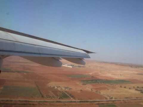 BAe 146 Landing at Benghazi (Libya)
