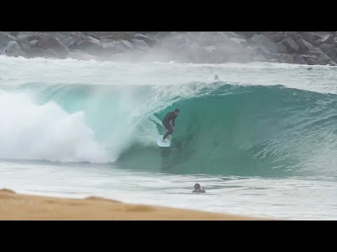 Softboard ripping at The Wedge