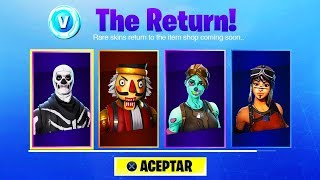 *NEW* FORTNITE SKULL TROOPER DEPARTURE DATE!? (Fortnite Christmas Skins and Skull Trooper Come Back)