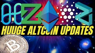 HUGE CRYPTOCURRENCY NEWS! Bitcoin, Ethereum 2.0, Zcoin, Cardano Shelley, Harmony Protocol, Zilliqa