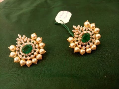Exclusive Famous hyderabad Pearl Earring Jewellery Designs