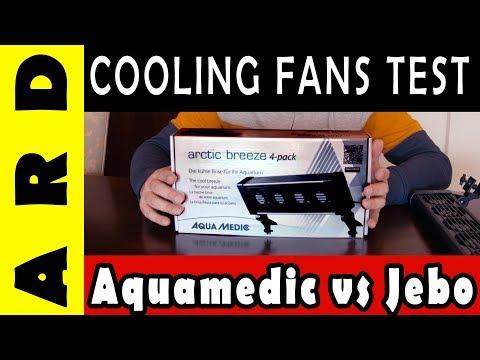 Comparison  - AquaMedic Arctic Breeze vs Jebo Reef 6 Head DC Fan