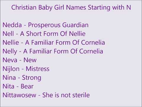 Christian Baby Girl Names N
