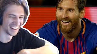 xQc reacts to Lionel Messi - The GOAT - Official Movie