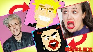 Gemälde Berühmte YouTuber in Roblox - Jake Paul, Miranda Sings, Baby Alan / Gamer Chad Plays
