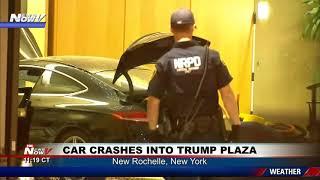 CAR CRASHES INTO TRUMP PLAZA: Car crashes through front doors in NY
