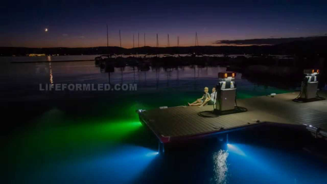 lifeform led underwater dock light kits youtube. Black Bedroom Furniture Sets. Home Design Ideas