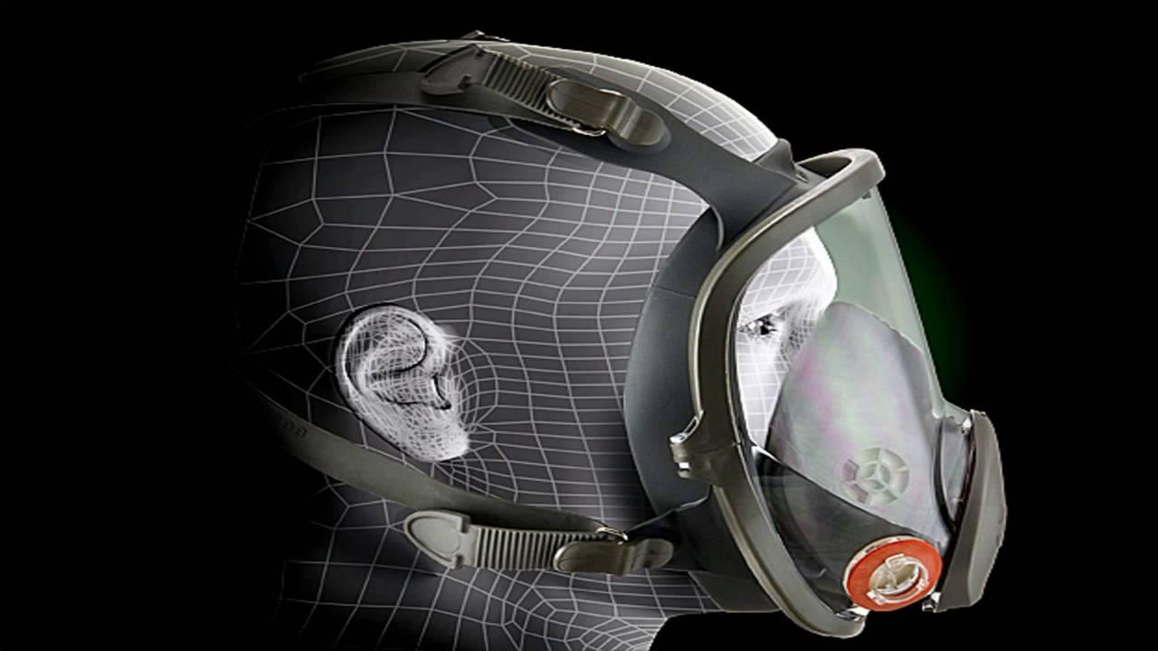 3M Full Facepiece Reusable Respirator 6800 Respiratory Protection MediumPac - YouTube