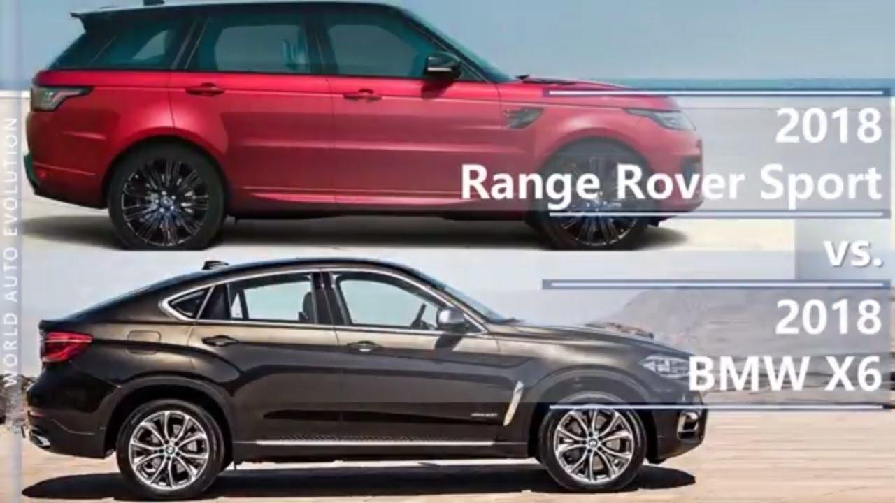 2018 Range Rover Sport Vs Bmw X6 Technical Comparison