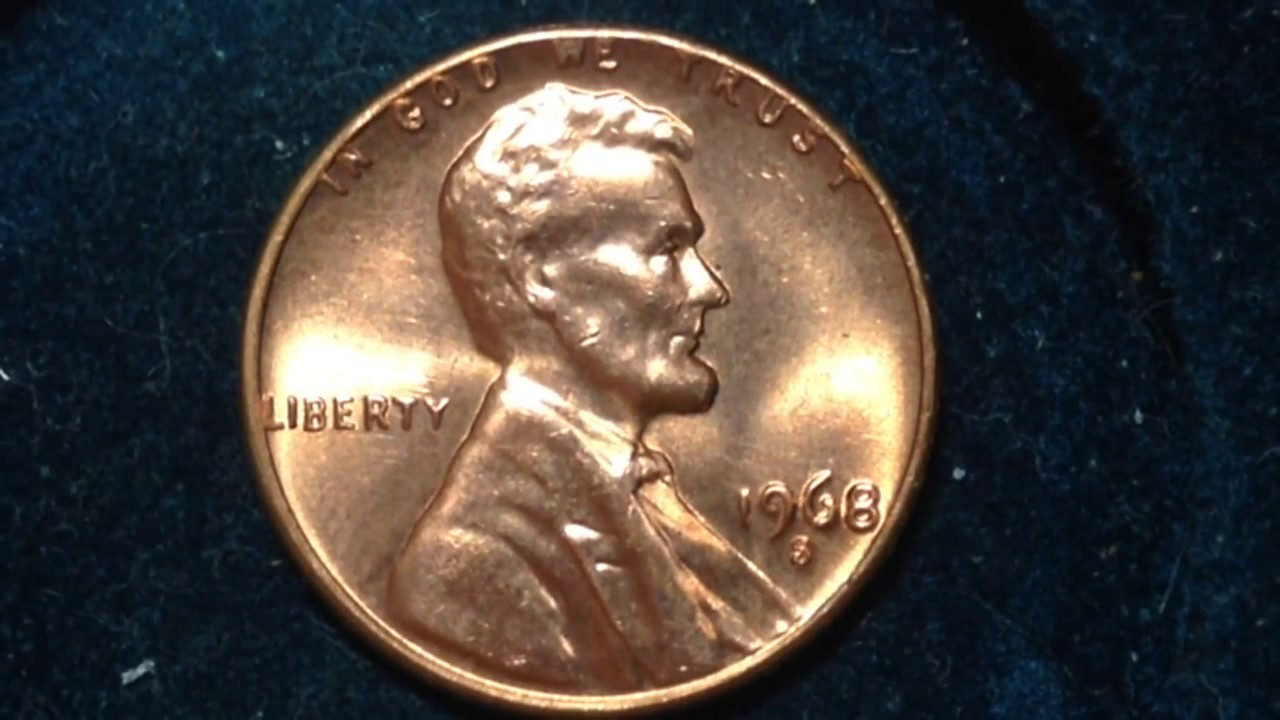 1968 S Lincoln Penny