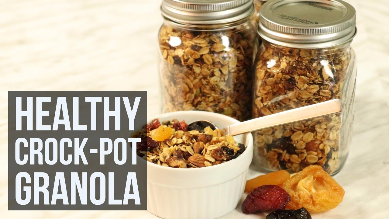 Healthy Crock Pot Granola Slow Cooker Breakfast Recipe By Forkly