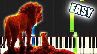 Can You Feel The Love Tonight - The Lion King 2019 | EASY PIANO TUTORIAL by Betacustic