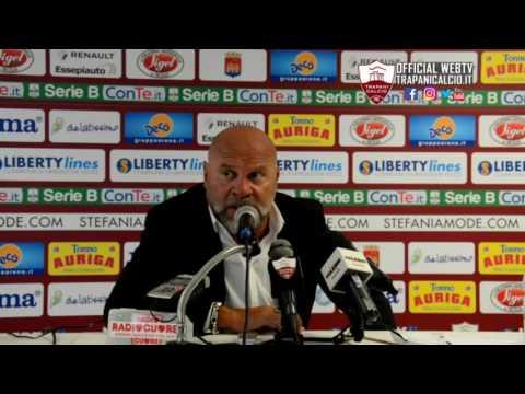 Trapani-Cittadella 0-2. Mister Serse Cosmi dopo la gara 1.10.16 ©Trapanicalcio.it