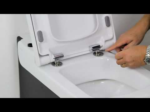 changing a toilet seat. How to install a soft close toilet seat  YouTube