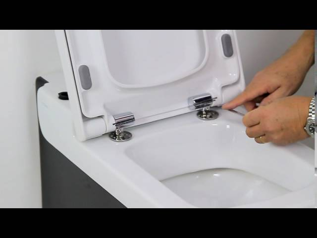 How to install a soft close toilet seat   YouTube