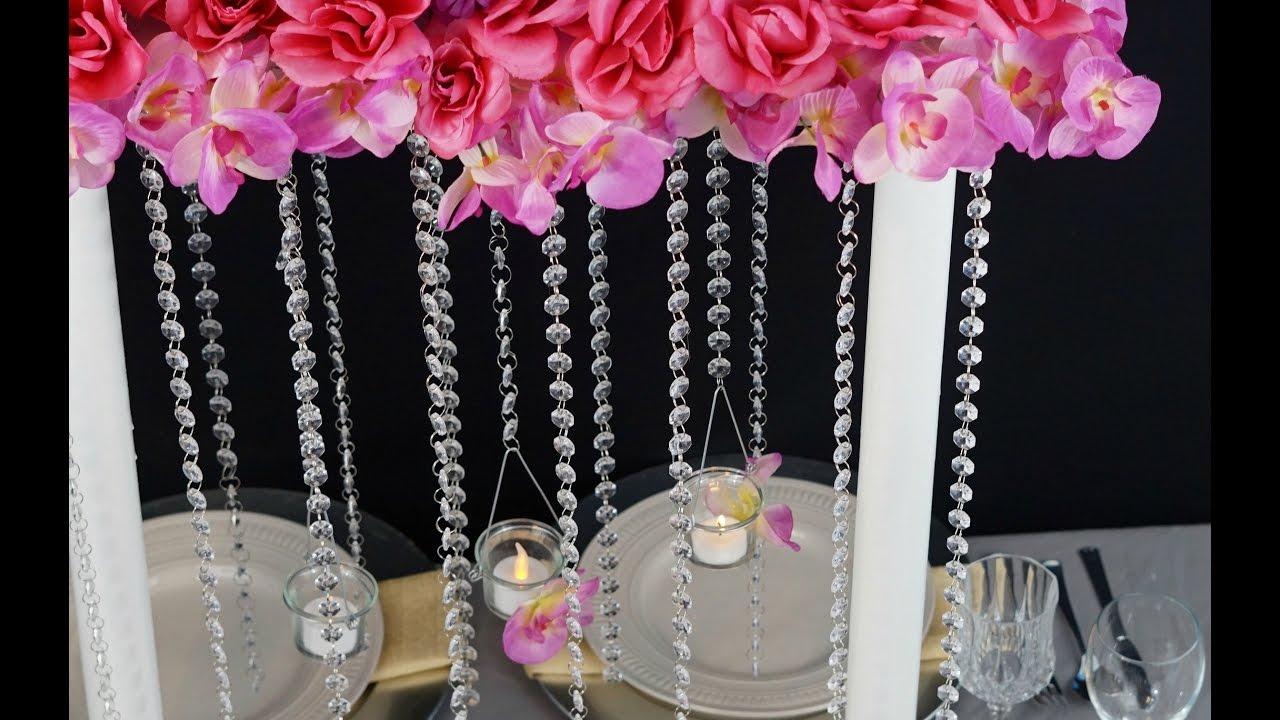 Flower Tower Wedding Centerpiece Diy