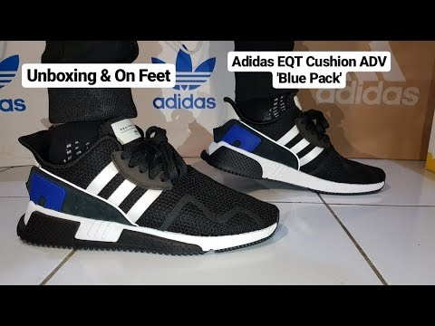 finest selection d6398 7d99f Adidas EQT Cushion ADV 'Blue Pack' Unboxing & On Feet!