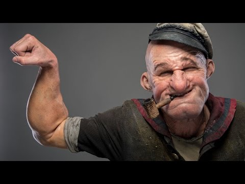 Full Popeye Make-up Demo from Doctor Who and SNL Make-up Artists