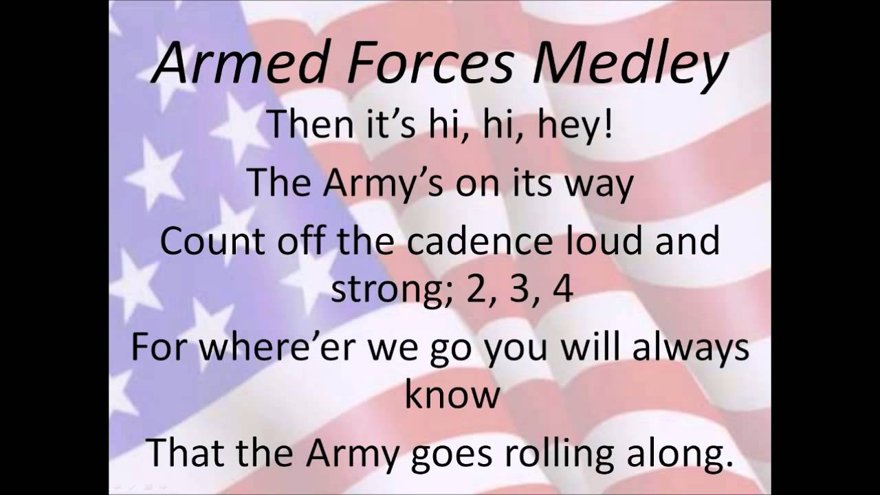Air Force Song Lyrics >> Armed Forces Medley - YouTube