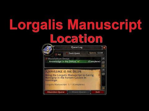 Classic WoW Lorgalis Manuscript Location