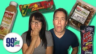 EATING GROSS 99 CENT STORE FOOD LIVE!!
