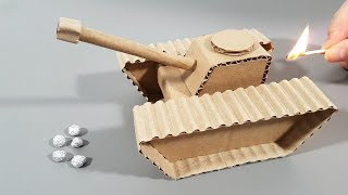 How To Make A Cool Looking Tank That Shoots From Cardboard | DIY
