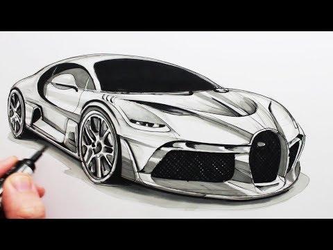 How to Draw a Sports Car: The Bugatti Divo