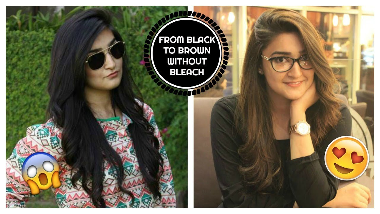 How I Dyed My Hair From Black To Brown Without Bleach