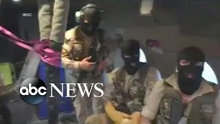 New video purportedly shows masked Iranian commandos rappelling onto the British flagged ship