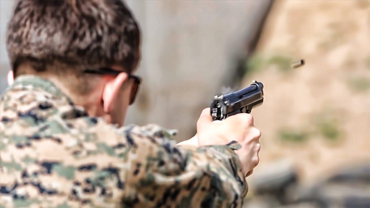 Marines Qualify With Beretta M9 - YouTube