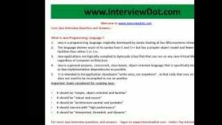 what is java programming language java interview question and answer.avi