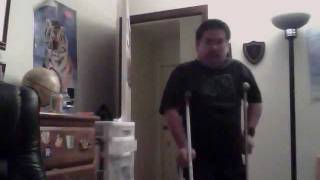 6 weeks post op acl meniscus surgery recover walking with crutches