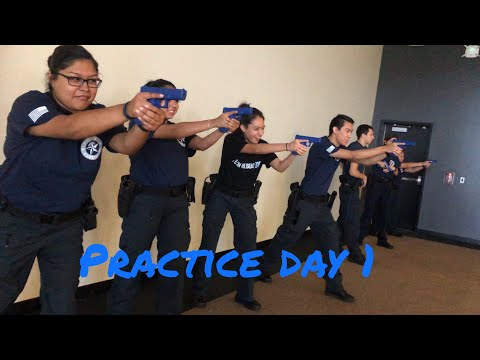 Preparing for competition day 1 || police explorers