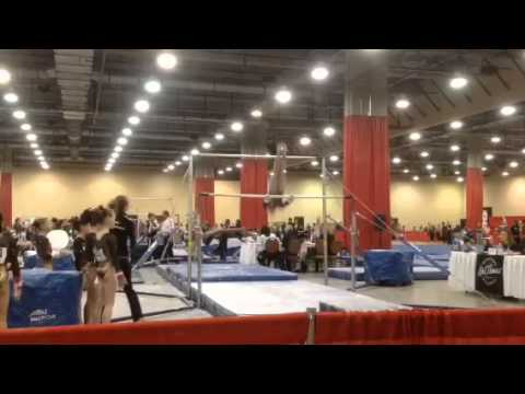 9.875 Level 7 Bar Routine .. Kurt Thomas Invitational 2014