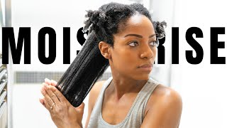 Moisturise/Style/Air Drying Routine (Post Wash & Deep Condition) Type 4 Natural Hair