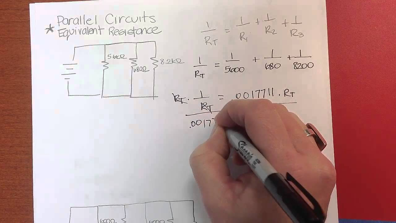 hight resolution of calculating equivalent resistance for a parallel circuit