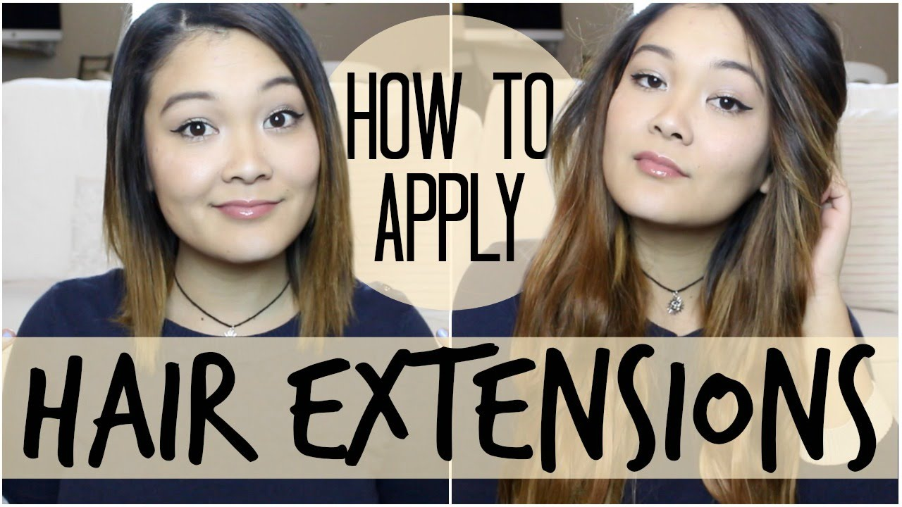 How To Blend Extensions With Short Hair Youtube