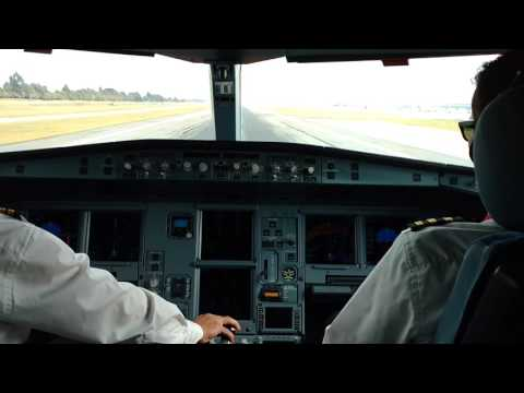 Avianca Cockpit Take Off RWY 13L
