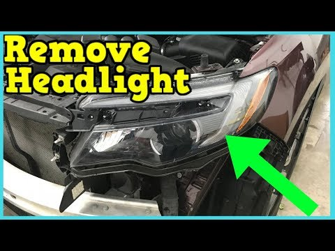 Honda Pilot 2016 2017 2018 2019 Headlight Removal How To Remove Replace Install