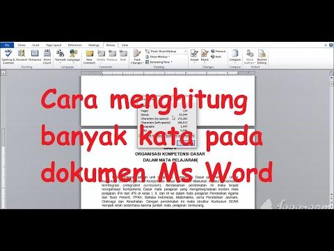 Cara Menghitung Banyak Jumlah Kata dan Banyak Halaman File Pada Ms ...