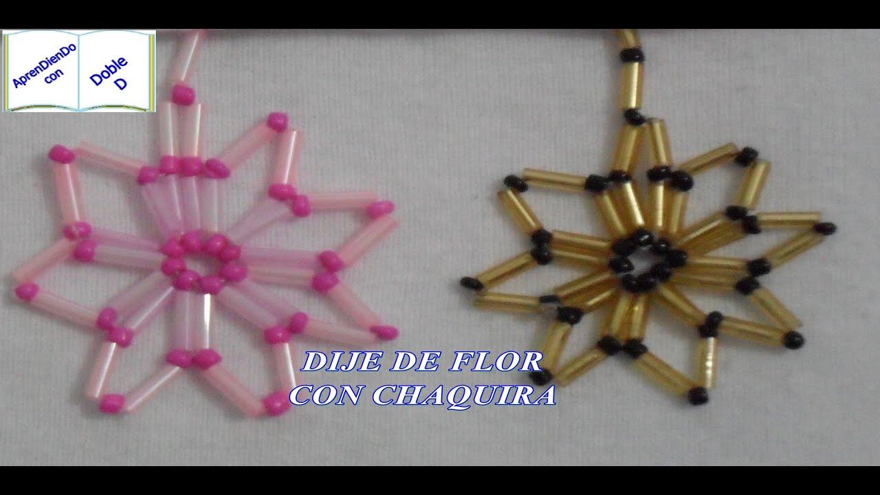 Dije de flor con chaquira youtube - Como hacer bisuteria en casa para vender ...