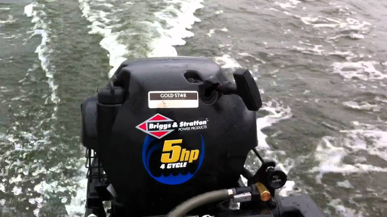 5 Hp Briggs And Stratton Outboard Youtube