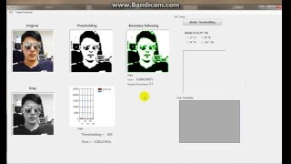 Image preprocessing(Thresholding, Boundary following) in C#