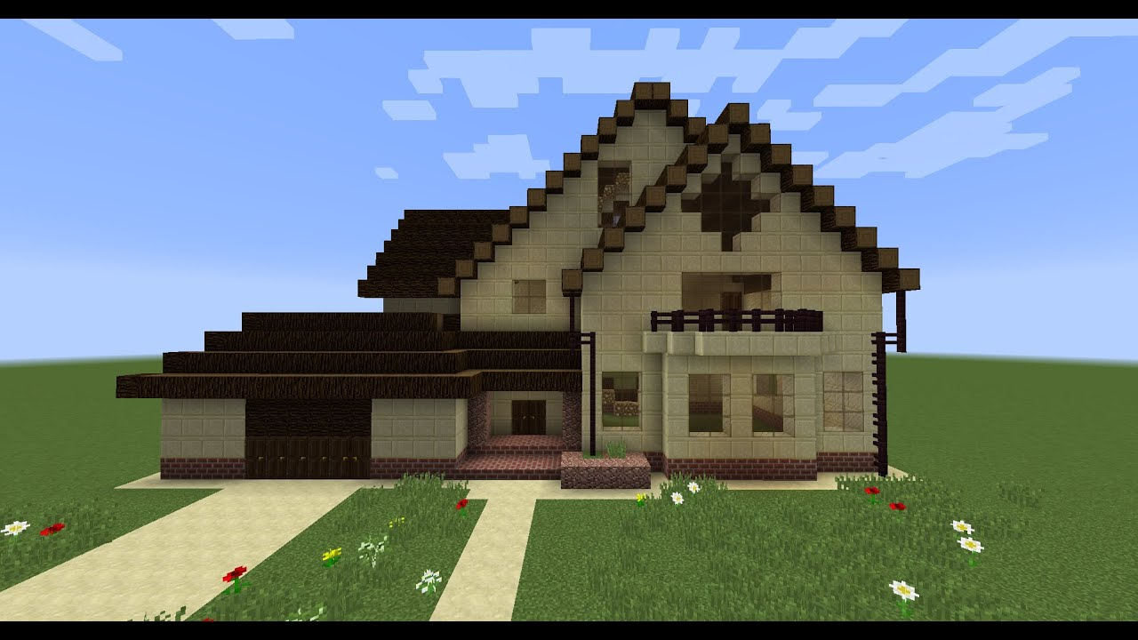 как построить в майнкрафте красивый дом картинки