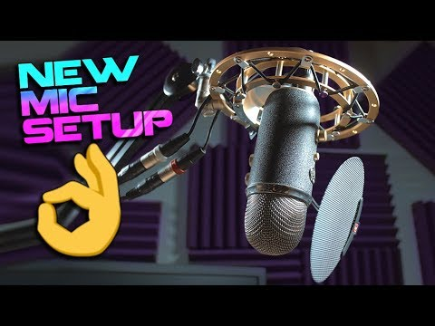 New Microphone Setup - Blue Yeti Pro + Radius 2 + Rode PSA1