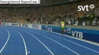 Usain Bolt Running New Wr On Men´s 100m (9.58)