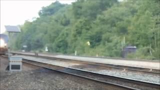 Amtrak Pennsylvanian Train 43 cruises over Carneys Crossing