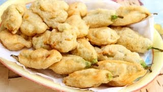Nonna's Zucchini Flower Fritters Recipe - Laura Vitale - Laura In The Kitchen Episode