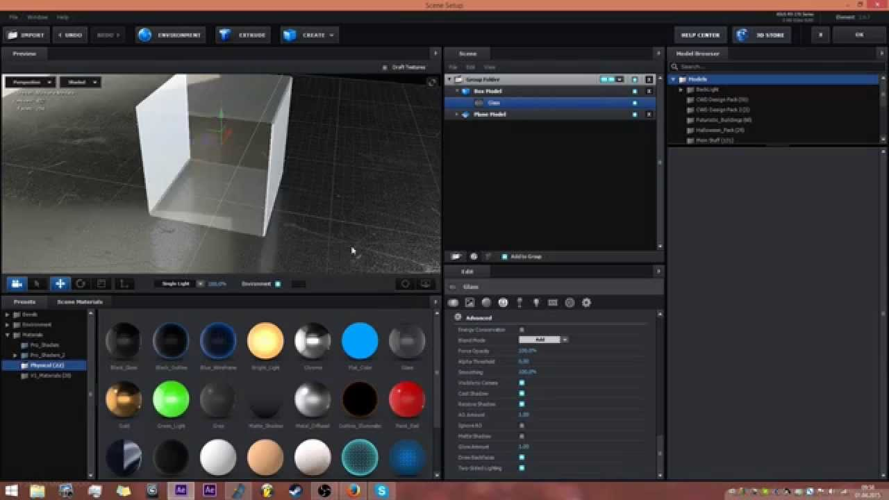 how to make holes in element 3d